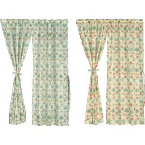 川島織物セルコン Morris Design Studio デイジーシアー スタイルのれん(防炎) 145×150cm EJ1718 G・グリーン|otafuku