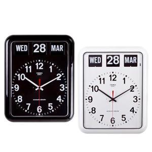 TWEMCO(トゥエンコ) 掛け時計 パタパタカレンダー時計 BQ-12A ブラック|otafuku