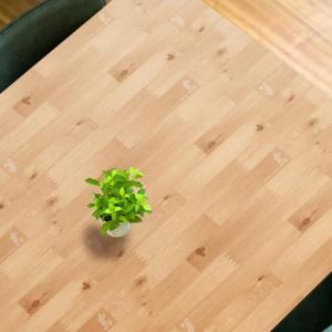 貼ってはがせるテーブルデコレーション ディズニー ウッドミッキー LBR(ライトブラウン) 90×150cm otafuku