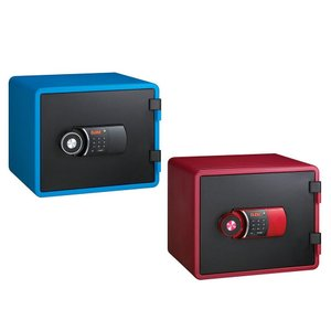 家庭用テンキー式 小型耐火金庫 YES COLOR SAFE イエス・カラーセーフ 21L ブルー・YESM-020BL|otafuku