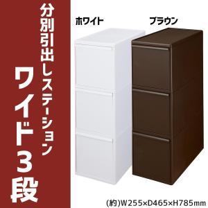 吉川国工業所 分別引出しステーション ワイド3段 BW-3 ホワイト|otafuku