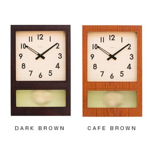 CHAMBRE FROSTED PENDULUM CLOCK 掛け時計 CAFE・BROWN・CH-...