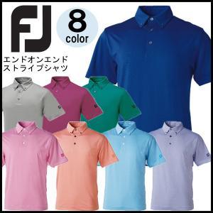 フットジョイ FootJoy エンドオンエンド ストライプ シャツ FJ-F13-S01|otakara-golf