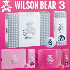 ウィルソン ベア スリー WILSON BEAR 3 ゴルフボール 1ダース「レディース」|otakara-golf