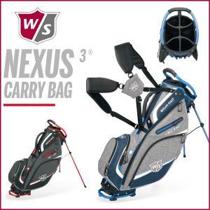ウィルソンスタッフ ネクサス3 キャリーバッグ Wilson Staff NEXUS3 CARRY BAG スタンドキャディバッグ 9.5型|otakara-golf