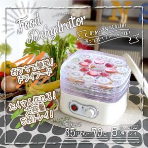 ドライフードメーカー 食品乾燥機 5段トレイ 温度調節可 手作り ジャーキー 肉 フルーツ###デハイドBY1152-1###