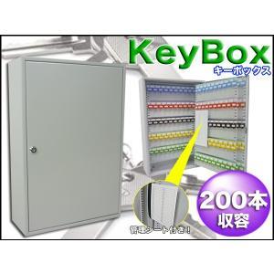 キーボックス 200本収容 壁掛け 管理シート付 防犯対策 オフィス 鍵 キーケース/ ###キーボックスTS200☆###|otakaratuuhann-sp