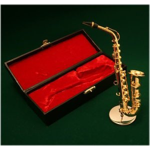 ミニチュア楽器 アルトサックス 1/6サイズ ゴールド|otanigakki