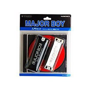 ブルースハープ 1710CX トンボ  テンホール ハーモニカ  MAJORBOY 初心者入門セット CD付|otanigakki