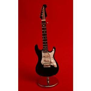 ミニチュア楽器 エレキギター GE34 15cm ブラック|otanigakki