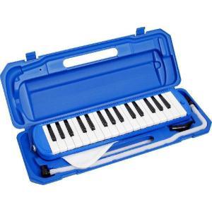 キョーリツコーポレーション 鍵盤ハーモニカ メロディーピアノ 32鍵盤 ブルー(シール付き)|otanigakki
