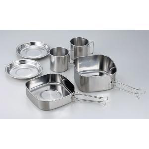 SOLA/ソラ 角型キャンピングクッカー6点セット ステンレス製鍋・フライパンセット 食器 キャンプ アウトドア 非常用|otasuke|04