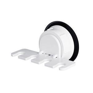 【ネコポス送料無料】 洗面所周りやお風呂場の壁面に歯ブラシ4本をコンパクトに収納。 取り付けは簡単!...