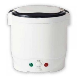 自動車などのシガーライターから電源が取れる炊飯器です。 最大で1.5合まで炊飯できます。無洗米と水を...