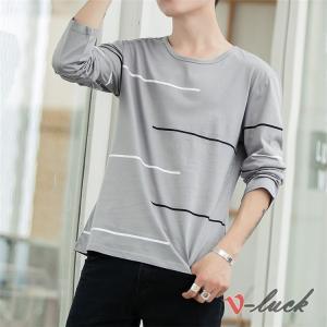 プルオーバー Tシャツ メンズ おしゃれ 長袖Tシャツ ティーシャツ 丸首 カジュアル ルームウェア インナー トップス|otasukemann