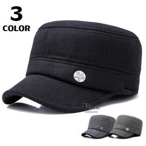 ハンチング メンズ ワークキャップ 帽子 キャップ ベースボール 耳あて付き ゴルフ 野球帽 スポーツ サイズ調節可 無地|otasukemann