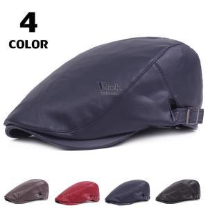 ハンチング帽 メンズ レディース 帽子 ハンチング ハット ぼうし アウトドア ベレー帽 レザー サイズ調節 春物|otasukemann