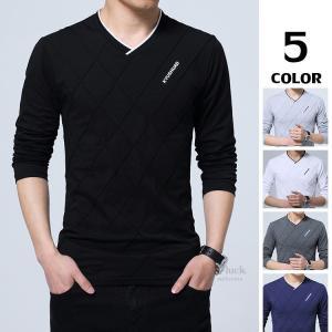 かっこいい ティーシャツ メンズ 長袖Tシャツ 薄手 トップス ルームウェア Tシャツ インナーTシャツ 部屋着|otasukemann