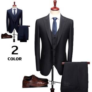 スリーピーススーツ 3ピーススーツ メンズ ビジネススーツ 1つボタン 紳士 スリムスーツ 新生活 結婚式 二次会 就職|otasukemann