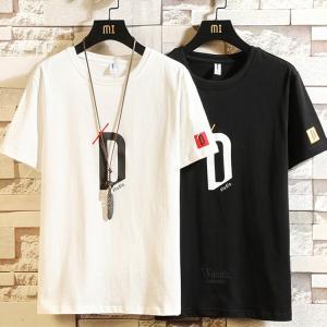 プリントTシャツ Tシャツ メンズ 半袖Tシャツ カットソー Tシャツ サマー ティーシャツ カジュアル ルームウェア 夏服|otasukemann