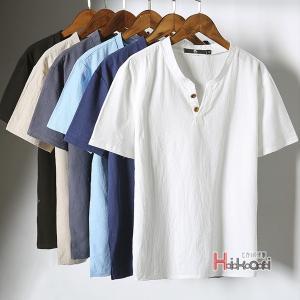 カジュアルTシャツ メンズ 半袖 Tシャツ おしゃれ 半袖Tシャツ 無地 ティーシャツ リネン 部屋着 春夏 送料無料|otasukemann