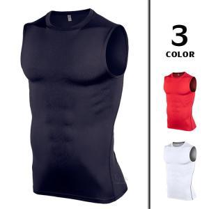 スポーツウェア Tシャツ メンズ ノースリーブ コンプレッションウェア インナー 加圧シャツ タンクトップ トレーニングウェ アンダー 夏新作|otasukemann