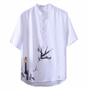Tシャツ ティーシャツ メンズ リネン 綿麻 ベーシック リネンTシャツ 半袖 トップス カジュアル ルームウェア おしゃれ 夏|otasukemann