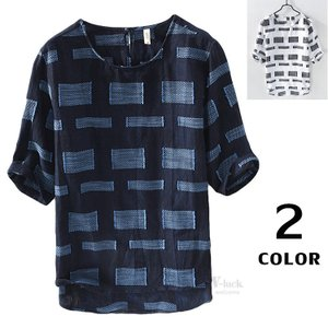 Tシャツ メンズ 半袖 リネンTシャツ 綿麻Tシャツ 半袖Tシャツ カジュアル 薄手 涼しい 夏物 夏新作|otasukemann