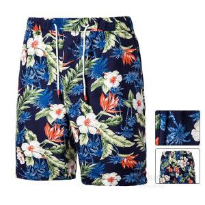 サーフパンツ メンズ ビーチパンツ 男性用 ハーフパンツ ショートパンツ 水着 海パン 水陸両用 花柄 人気 おしゃれ 夏|otasukemann