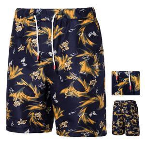 サーフパンツ メンズ 水陸両用 花柄 ハワイアン ショートパンツ ハーフパンツ 半ズボン ビーチウェア 海パン 夏新作|otasukemann