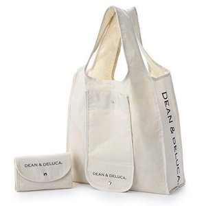 DEAN & DELUCA ショッピングバッグ ナチュラル エコバッグ 折りたたみ 軽量 コンパクト レジ袋 マイバッグ 縦430mm × otc-store