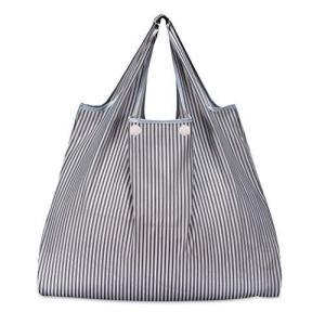 折りたたみ買い物袋 防水素材 (グレーストライプ) otc-store