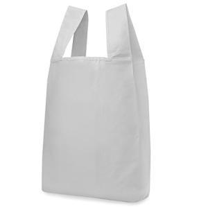 reiri エコバッグ 折りたたみ コンパクト 収納 コンビニバッグ レジ袋タイプ (単色グレー) otc-store