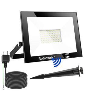 T、T−SUN 2021年最新版 LED投光器 センサーライト レーダー人感センサー led 投光器 屋外センサー 50W 5000LM I|otc-store