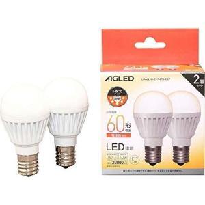 アイリスオーヤマ LED電球 E17 広配光 60形相当 電球色 2個セット LDA6L-G-E17-6T6-E2P otc-store