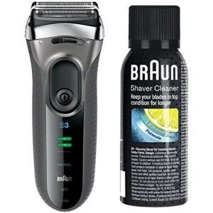 ブラウン メンズ電気シェーバー シリーズ3 3080s-S 3枚刃 水洗い/お風呂剃り可 シルバー +シェーバークリーナー otc-store