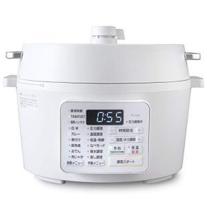 アイリスオーヤマ 電気圧力鍋 4.0L 2WAYタイプ グリル鍋 業界最高出力1000W 6種類自動メニュー レシピブック付き ホワイト 2 otc-store