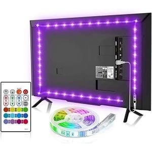 BASON LEDテープライト USB接続 2.5m テレビ照明 バックライト RGBテープライト リモコン付き ?色?光 高輝度 正面発光|otc-store