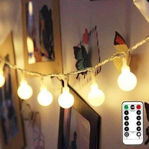 イルミネーションライト led ストリングライト フェアリーライト 電飾led 5m 50球 電球色 【リモコンと電池ボックス 2WAYコン|otc-store