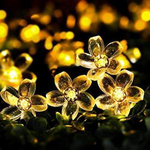 ソーラー led イルミネーション ストリングライト 屋外 桜の花 IP65防水 太陽光発電 夜間自動点灯 12m 100電球 パーティー/|otc-store