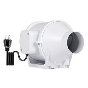 ダクトファン OOPPEN 新型換気扇 110V 産業用換気送風機 中間取付形ダクトファン ダクト用換気扇 φ75mm 低騒音 IPX2防水 otc-store