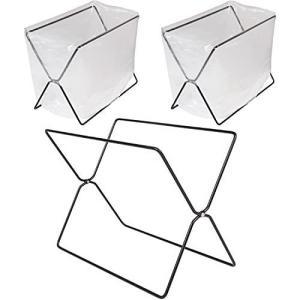 アストロ ゴミ袋スタンド 3個組 ブラック ゴミ箱 レジ袋スタンド 分別 布巾ハンガー 折りたたみ 822-13 小 otc-store