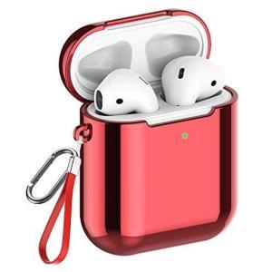 【改良版】AirPods ケース Apple AirPods 第1/2世代に適用【前のLEDライトが見える】メッキTPU素材 ソフト エアー otc-store