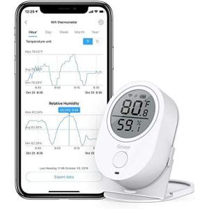 デジタル温湿度計 WiFi温度計 湿度計 Govee LCD大画面 アプリコントロール グラフ記録とデータ輸出機能付き 置掛兼用 高精度 温 otc-store