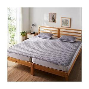 [nissen(ニッセン)] 敷きパッド ベッドパッド 接触冷感 綿混 タオル地 吸汗速乾 リバーシブル 大判 ファミリーサイズ ライラック otc-store