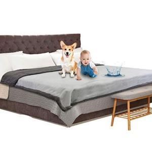 Catalonia 防水カバー ベッド ダブル 防水毛布 ペット 防水シーツ 猫 犬 粗相対策 おしっこマット 赤ちゃん ベビー 防水シート otc-store