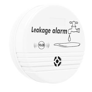 漏水検知器 Nuovoware 家庭用 水漏れ探知 警報機 高感度 防水 厨房 トイレ 風呂場 洗濯室など 電池式 無線 white otc-store