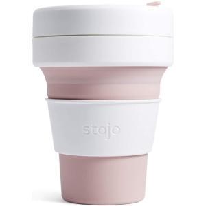 ストージョ(stojo) 折りたたみ タンブラー POCKET CUP 355ml ローズ ふた付き|otc-store