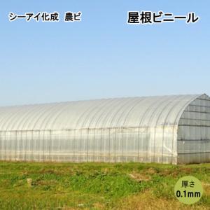 シーアイ化成 農ビ 屋根ビニール 2.5 x 12間 0.1mm x 600cm x 25m|otentosun