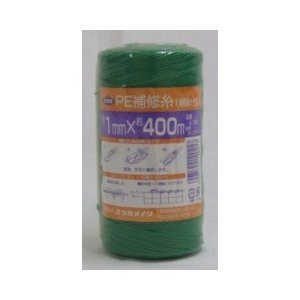 ネット補修   PE補修糸(網針付) 品番A−185 1mmx400m|otentosun